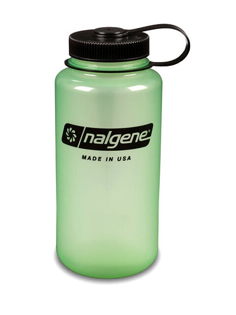 Nalgene 1L Wide Mouth Bottles Glow Green/Black (2031)